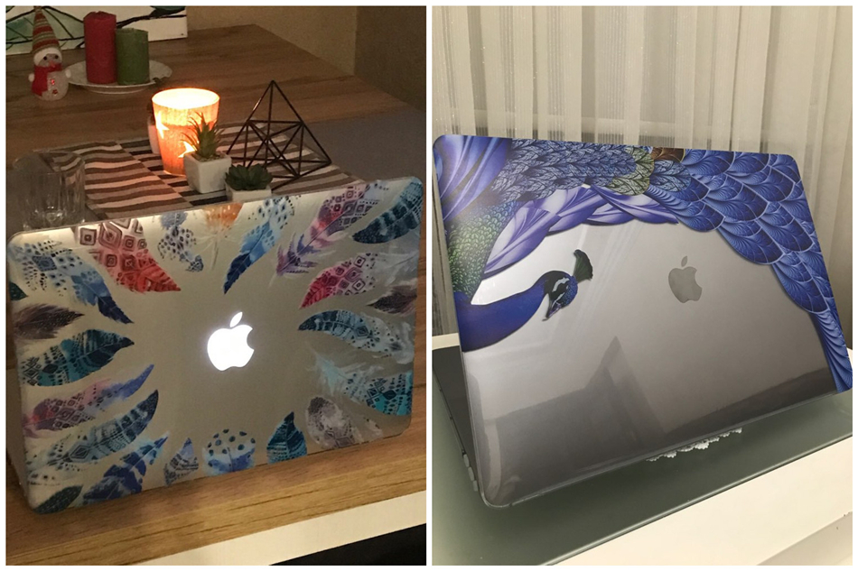Crystal Feather Hard Colored Case for MacBook 18