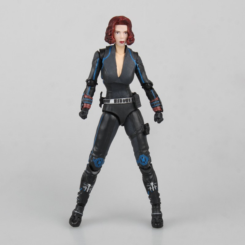 QICSYXJ High Quality Birthday Gift Supply Superhero Action Figure Collection 14cm Black Widow Model Movable Doll Decorations new hot 17cm avengers thor action figure toys collection christmas gift doll with box j h a c g