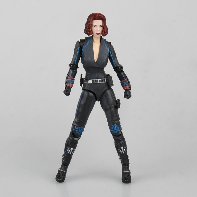 QICSYXJ High Quality Birthday Gift Supply Superhero Action Figure Collection 14cm Black Widow Model Movable Doll