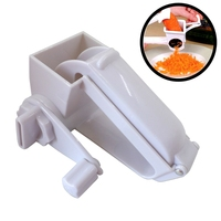 Hand Cranked Plastic Cheese Grater Rotary Ginger Garlic Slicer Chocolate Cheese Grater Home Kitchen Cooking Baking