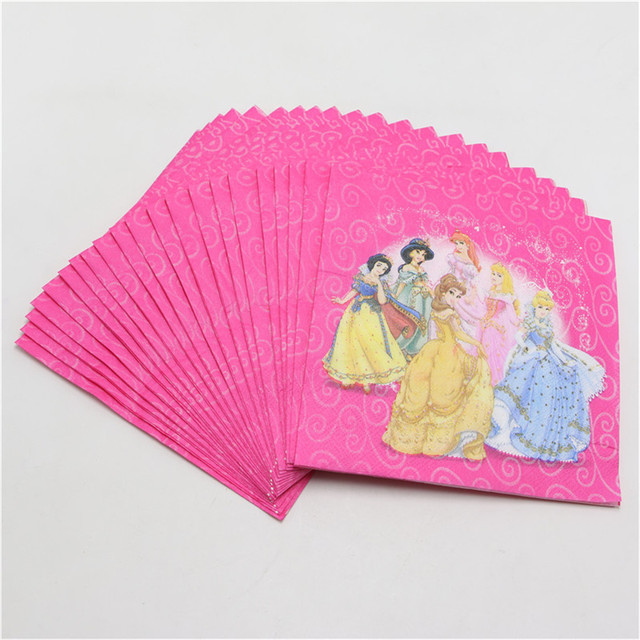 Napkins with Princesses Pattern 20 pcs/lot