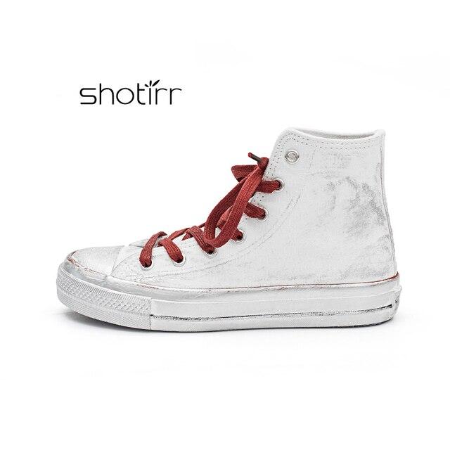 Yeni Varış Tuval Kadın Ayakkabı Yüksek top Rahat moda Açık Öğrenciler yüksek kaliteli ayakkabılar