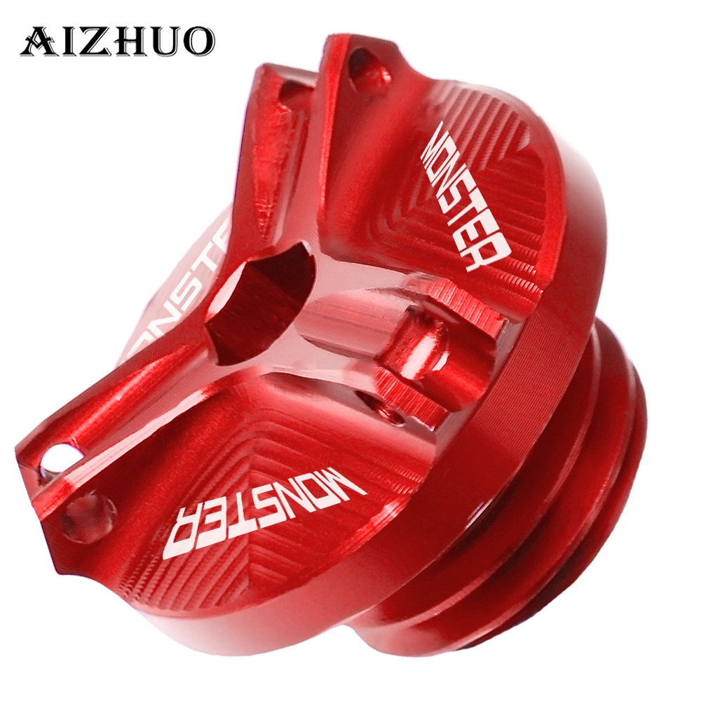 Motorcycle Engine Oil Drain Plug Sump Nut Cup Oil Filler Cap Plug Cover For Ducati MONSTER 1100 EVO 2011 2012 2013 2014 2015 in Covers Ornamental Mouldings from Automobiles Motorcycles