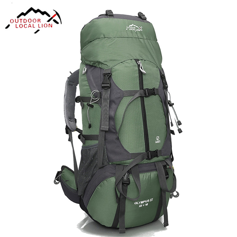 все цены на 65 Litre Large Backpack Men Hiking Backpacking Packs for Outdoor Hiking Travel Climbing Camping Mountaineering Rucksack 5 colors онлайн