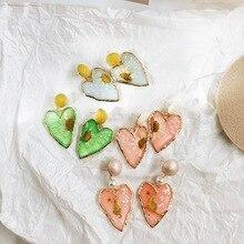 2019 Cute Heart Flower Cartoon Statemnet Drop earring Party Wedding Dangle Earring Jewelry