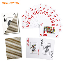 лучшая цена Baccarat Texas Hold'em poker cards Royal Poker Gold&Silver Waterproof Frosting poker star Plastic playing cards game Board games