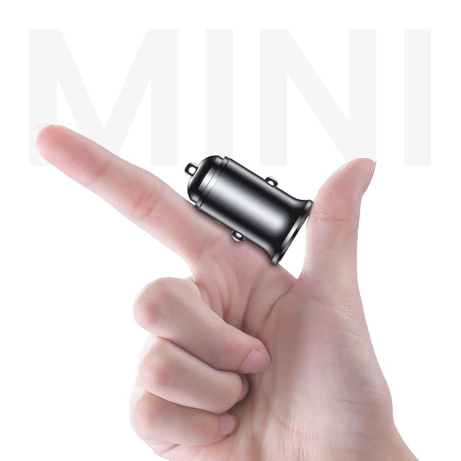Handys & Telekommunikation Handy-zubehör FleißIg Fivi Metall Usb Auto Ladegerät Für Huawei Xiaomi 3.1a Mini Schnelle Ladegerät Auto-ladegerät Dual Usb Auto Ladegerät Adapter Für Samsung S10 Ausreichende Versorgung