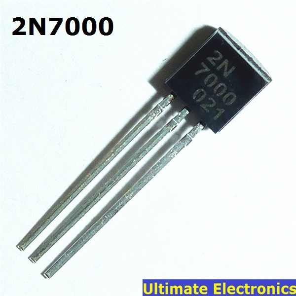 MYAMIA Transistor De Canal N 50Pcs 2N7000 R/ápido del Interruptor Mosfet To-92