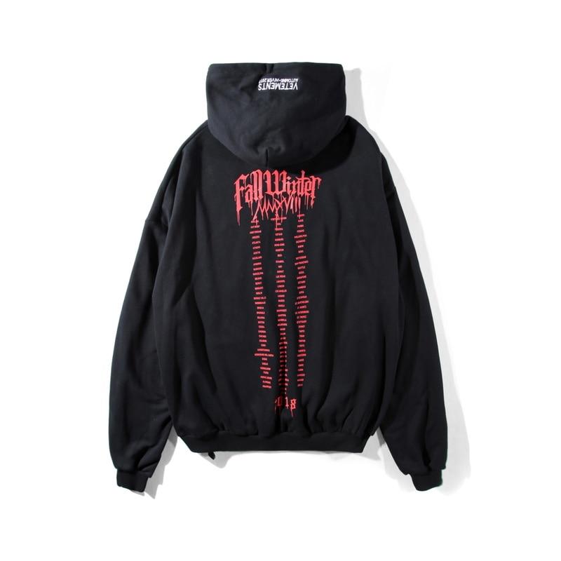 VETEMENTS sweat à capuche pour homme femmes étranger choses Streetwear Harajuku mode Sweatshirts broderie VETEMENTS gothique à capuche