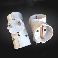 2PCS European Standard Power Supply Conversion Plug German Standard Converter Extended Socket 1 Turn 3 Power