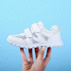 Image 5 - Năm 2019 Nữ Mới Giày Thể Thao Chạy Bộ Giày Sneaker Dành Cho Trẻ Em Của Lưới Mềm Mại Thoải Mái Bé Trai Thoáng Khí Giày Học Sinh Giày Trắng