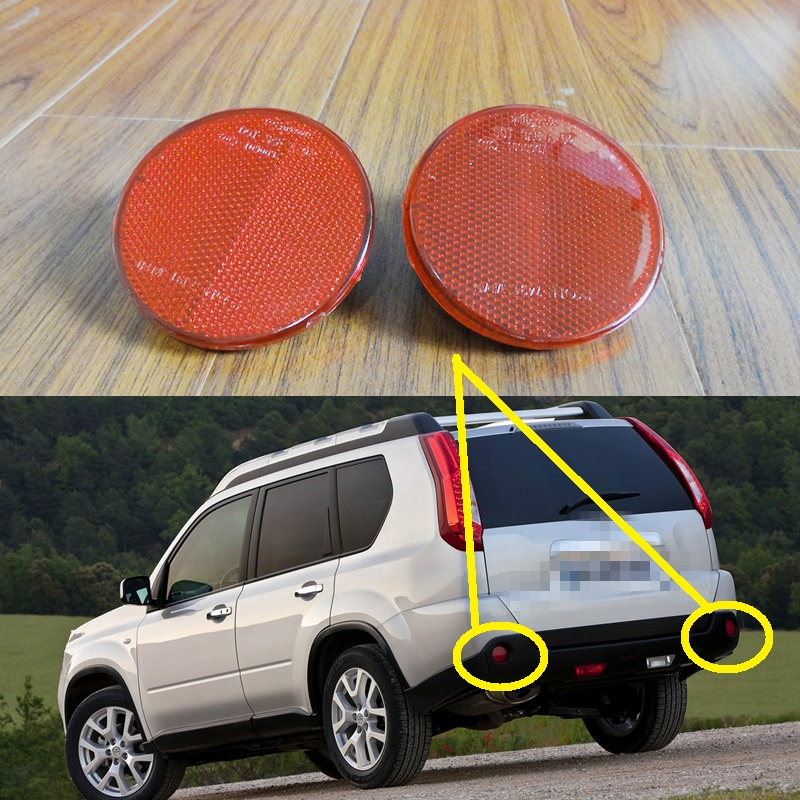 2 Pcs/Pair Red Tail Rear bumper reflector lights RH and LH for Nissan X-Trail 2008-2013 red clear tail lights led brake 1 pair lh rh fit for honda accord 2013 2014 2015 4 door sedan