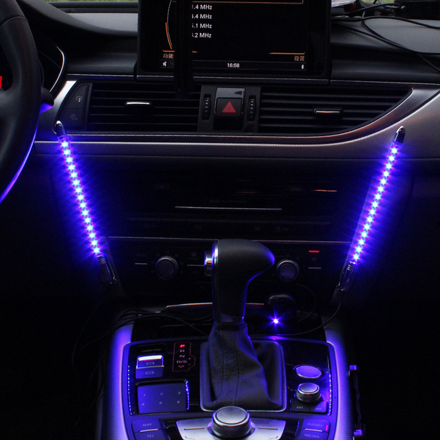 Colorful flashing LED Music Light for car ambient lighting
