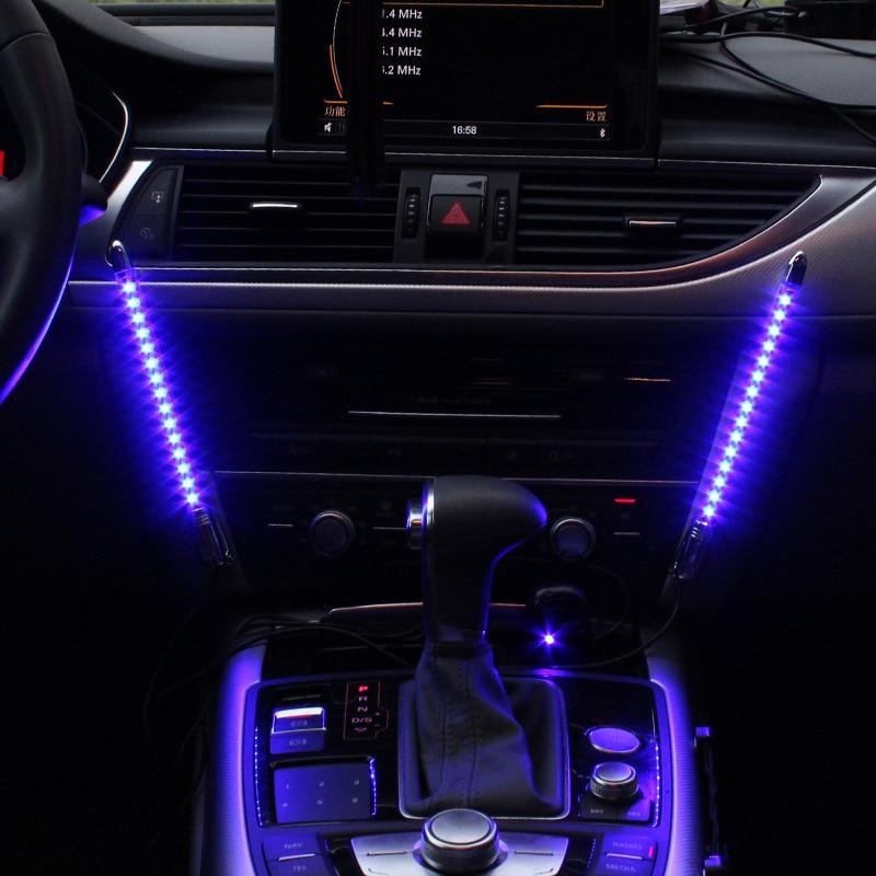 kleurrijke knipperende led muziek licht voor auto sfeerverlichting interieur decoratieve verlichting voor spraakgestuurde lichten genstalleerd in