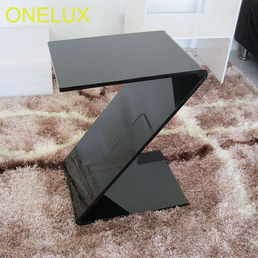 Acrylic Z Shaped Side Magazine Table,Lucite Occasional Sofa End Tables ...