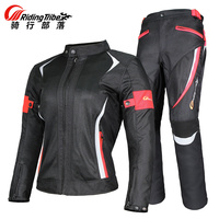 Riding Tribe Women's Motorcycle Protective Gear Jacket & Moto Pants Suit Jacket Breathable Mesh Touring Motorbike Clothing Set