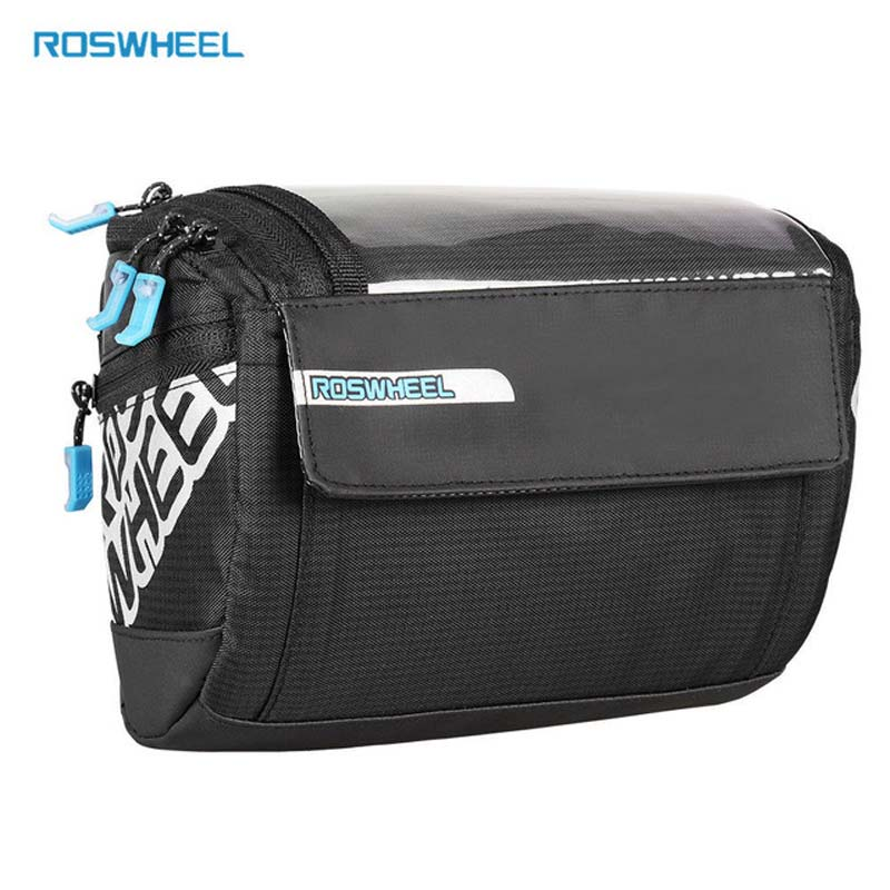 PVC Map Pocket Bike Bag Top Tube Frame Bag Pannier Bicycle Front Rack Large Storage Bicycle Bags Riding Cycling Handlebar Bag in Bicycle Bags Panniers from Sports Entertainment
