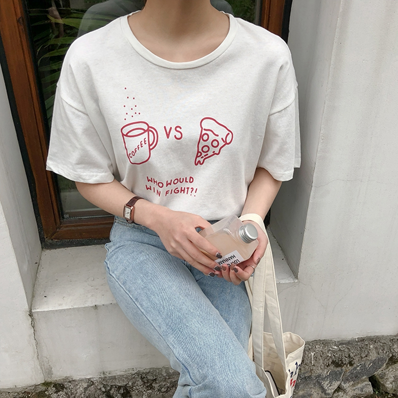 Graphic Tees Women Casual Lady Top Tees Cotton Summer Red Tshirt Female Brand Clothing T Shirt Top Tee Free Size Funny t shirts in T Shirts from Women 39 s Clothing