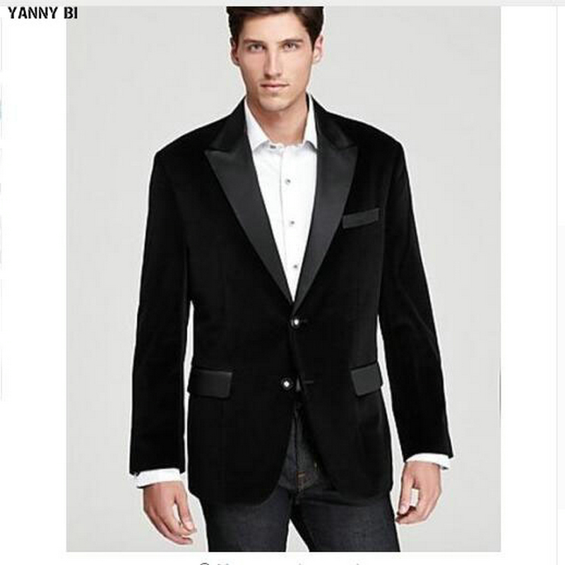 Personnalisé fou hommes velours noir à la main Designer Blazer de luxe fête porter dîner veste manteau de mariage costume vestes
