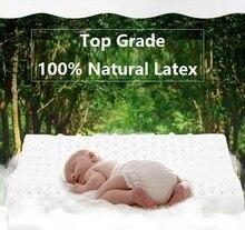 100% натуральные латексные подушки CAMMITEVER, уход за головой и шеей, Ортопедическая подушка для сна, постельное белье, латексный массаж
