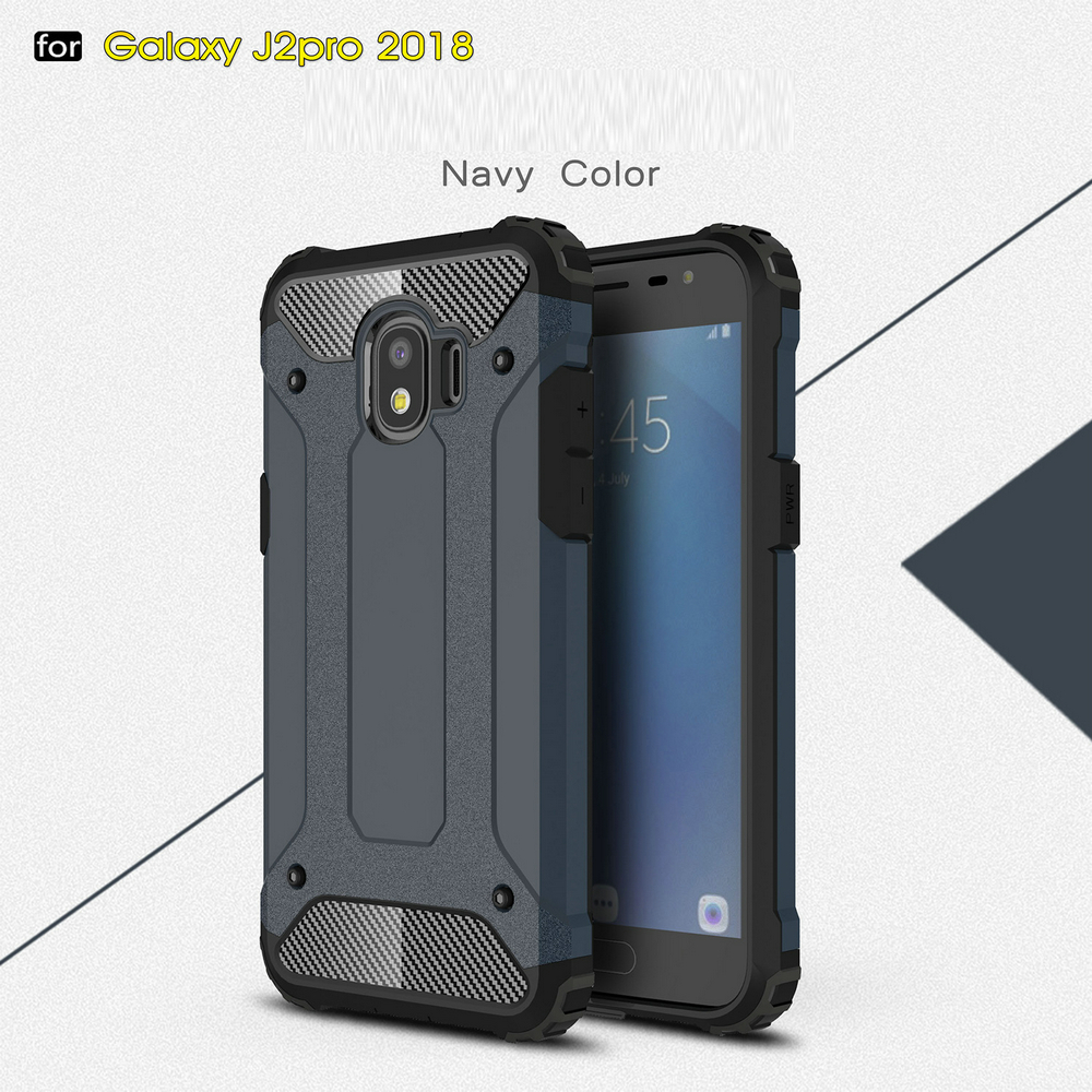 Fitur For Samsung Galaxy J2 Pro 2018 Detachable Plastic Hard Skin