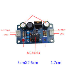 Conversor dc nixie & magic, conversor de alta tensão dc 9-12v para 80-380v dc boost mc34063 módulo de alimentação do tubo de olho hv, f/6e2 6e1 6e5