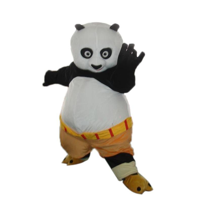 Haute qualité adultes Kungfu Panda mascotte Costume personnage de dessin animé Panda ours mascotte Costumes fantaisie robe pour noël Halloween