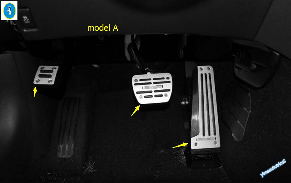 2 Model For Choice ! High Quality ! For INFINITI Q50 QX50 Fuel Brake Foot Rest Pedal Plate Cover Trim Modling brand new 3pcs aluminium non slip foot rest fuel gas brake pedal cover for mazda 3 at 2011 2015