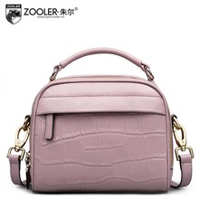 2016 New zooler genuine leather women bag designers brand fashion crocodile quality women leather handbags shoulder small  bag