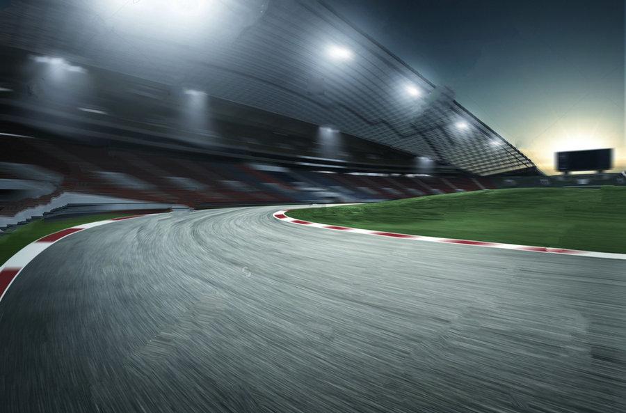 Motion Speed Racing Race Track Photo Backdrop Vinyl Cloth