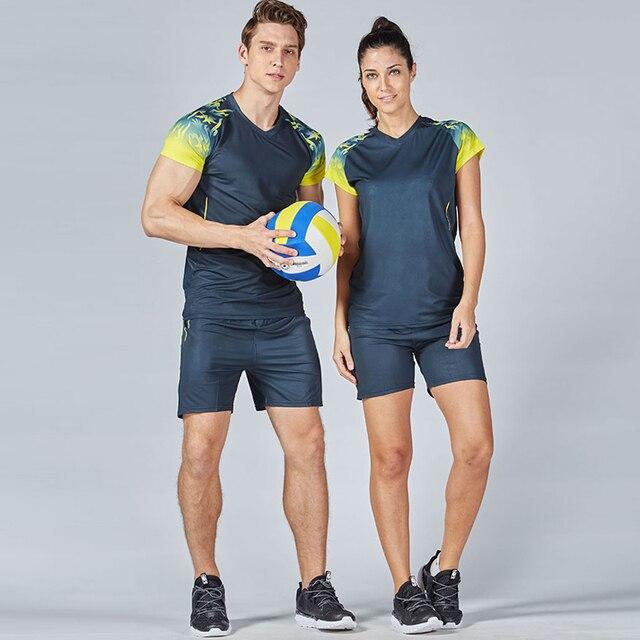 0a2dbfcd31ca Спортивные Мужские Женские волейбольные майки спортивная одежда  волейбольная форма костюм мужские спортивные футболки форма для волейбольная