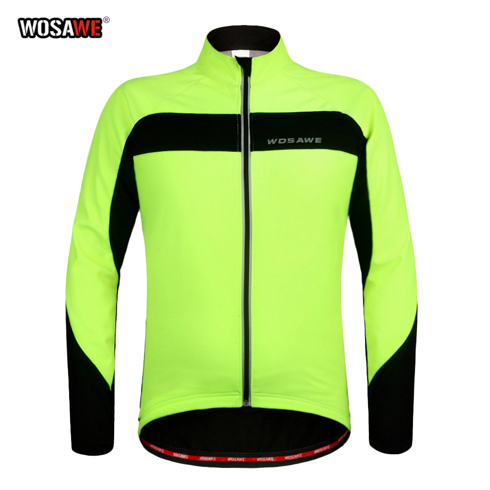 WOSAWE Autumn Winter Motorcycle Cycling Jacket Windproof Bike Moto Warm Up Bicycle Windbreaker Racing Riding Jersey(China)