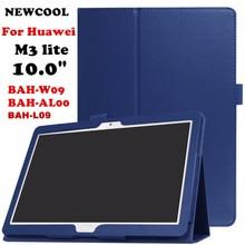 """M3 LITE 10.0 10.1 M3 Litchi Caso de la Cubierta Del Tirón Del Cuero Del Soporte Para Huawei MediaPad 10 Lite BAH-W09 BAH-AL00 10.1 """"caja de la tableta de shell"""