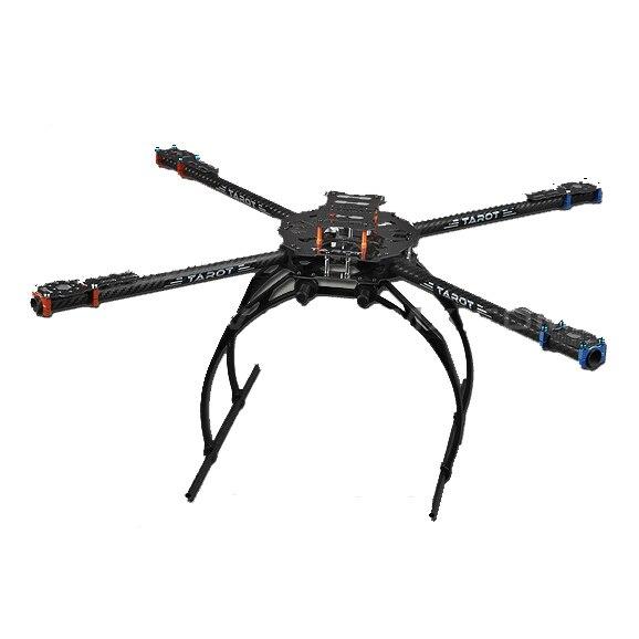 Tarot 650 4 ejes plegable 3 K fibra de carbono tubos de aluminio marco Kit TL65B02 para Quadcopter aviones aérea RC FPV fotografía