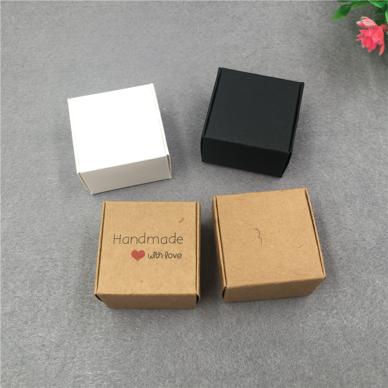 Image 4 - 50pcs/lot 4x4x2.5cm Small Kraft Cardboard Packing Gift box MiNi Lovely Aircaft Paper Box Handmade soap Packing Box-in Gift Bags & Wrapping Supplies from Home & Garden