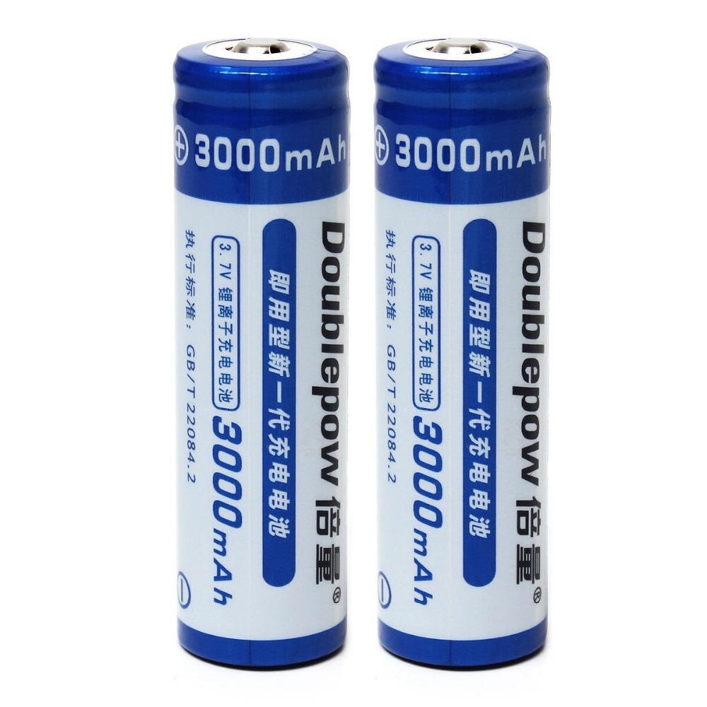 2pcs/set Doublepow Lsd High Capacity 3000mah 3.7v 18650 Li-ion Rechargeable Battery With 1200 Cycle Providing Amenities For The People; Making Life Easier For The Population