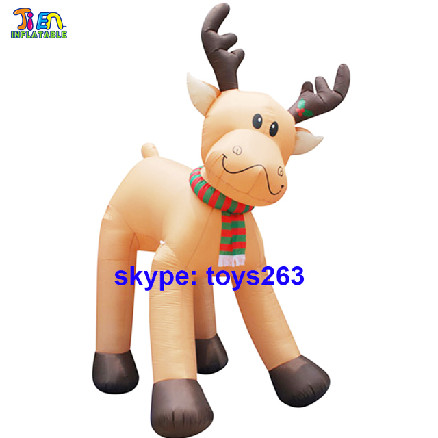 Marvelous Free Air Shipping Inflatable Christmas Deer Inflatable Elk / Shopping Mall  Christmas Inflatable Reindeer For Outdoor