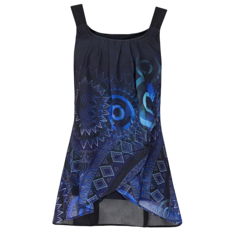 Summer New Sexy Print Shirt Sleeveless O-Neck Vest   Tank     Tops   casual Fitness Tees colors 6 plus size 5 XL Female Camisas Mujer