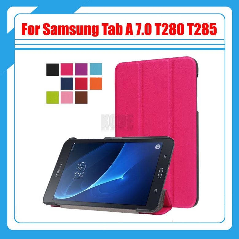 3 in 1 Folio stand PU leather magnetic cover case for 2016 New Case for Samsung Galaxy Tab A 7.0 T280 T285+screen films + stylus