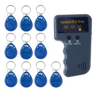 New Handheld 125KHz RFID Copier Writer Readers Duplicator With 10PCS ID Tags