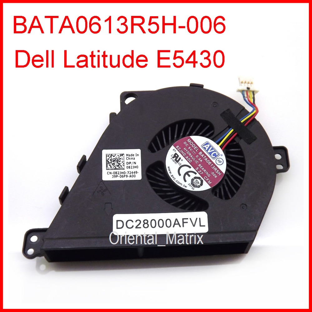 Free Shipping Original New BATA0613R5H-006 EF50050V1-C181-S99 DC5V 0.3A For <font><b>Dell</b></font> <font><b>Latitude</b></font> <font><b>E5430</b></font> Laptop CPU Cooler Cooling <font><b>Fan</b></font> image