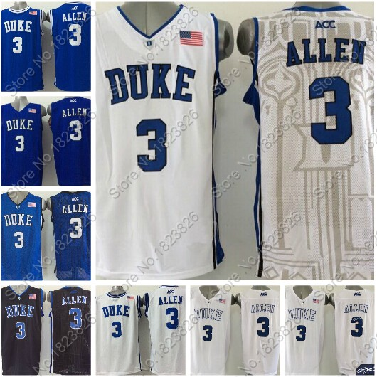 be67400d496 ... 2015 Newest 3 Grayson Allen Jersey Duke Blue Devils College Basketball  Jersey Black White ACC Stitched .