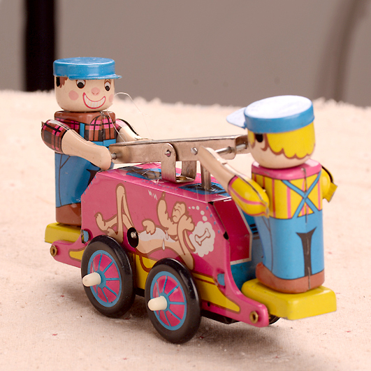 Classic Clockwork Juguetes Adultos Del Carro De Ferrocarril de Hojalata Coffection Arte Clásico Manual Camión Terminan Juguetes