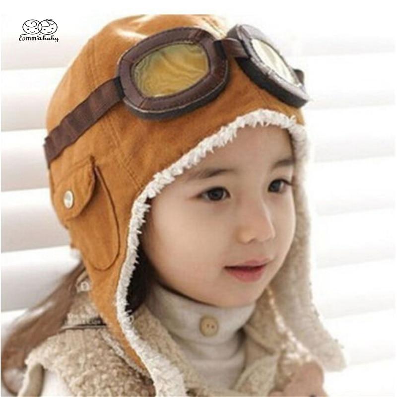 2018 Toddlers Warm Cap Hat Beanie Cool Baby Boy Girl Kids Infant Winter Pilot Cap 2 Colors стоимость