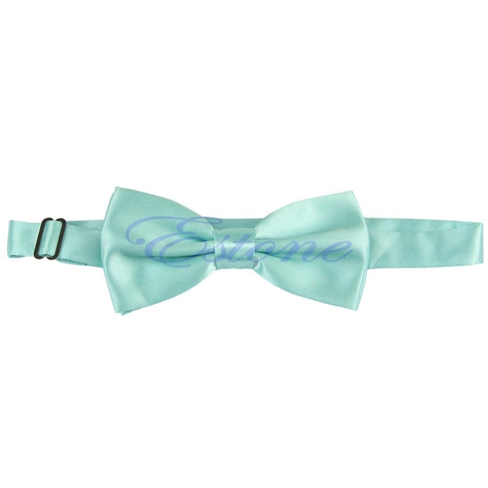 Z101 Baru Fashion Anak Busur Biru Hijau Dasi Kerah Salur Dark Navy Pakaian