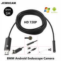 JCWHCAM HD 2MP 6 LED 8mm Len 1 mt 5 mt Android USB Endoskop IP67 Wasserdichte Inspektion Endoskop Rohr kamera OTG Android Telefon 720 p