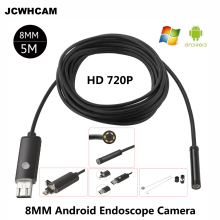 HD 2MP 6 LED 8mm Lens 1M 5M Android USB Endoscope Waterproof Inspection Borescope Tube Camera OTG Android Phone Support 1280*720 9mm 2in1 5m mini usb endoscope otg car 6 led borescope inspection security cctv android camera 2 0mp hd micro waterproof camera