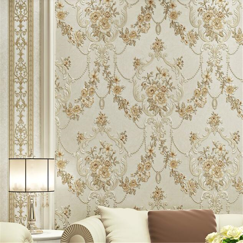 beibehang European garden stripes papel de parede 3d non woven wall paper living room bedroom background wallpaper for walls 3 d beibehang papel de parede 3d dimensional relief korean garden flower bedroom wallpaper shop for living room backdrop wall paper