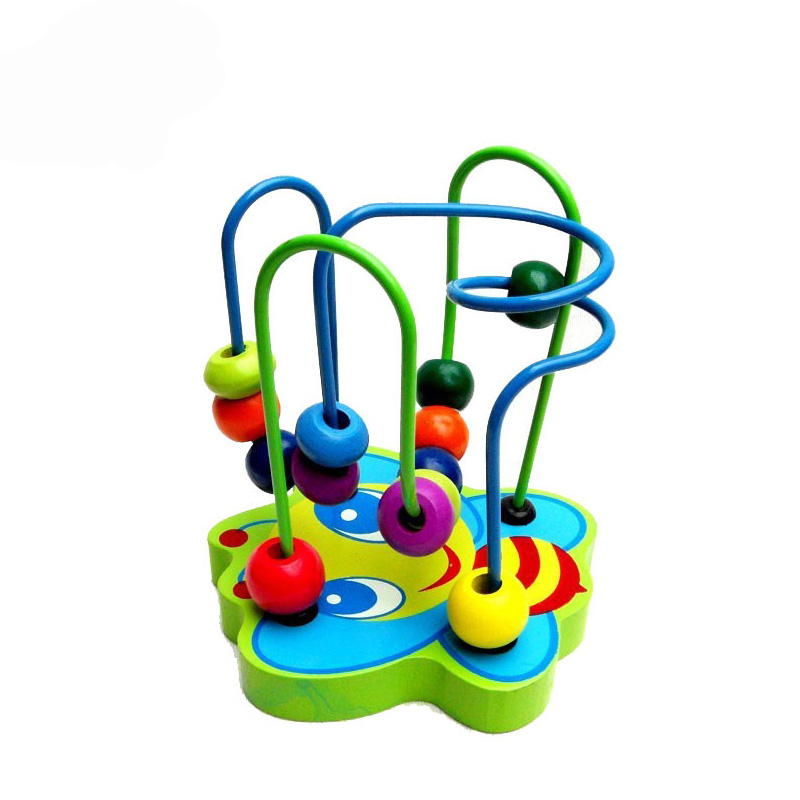 Multi-function Round Bead Maze Roller Coaster Toys Blocks Wooden Jenga Game Toys Baby Learning Early Education MZ401 гель kapous professional gel normal styling