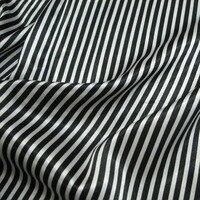 Siyah ve beyaz dikey stripes/öykünme ipek streç saten malzeme bez sanat elle/100 cm * 120 cm